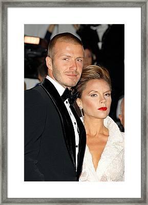 David Beckham And Victoria Beckham Framed Print