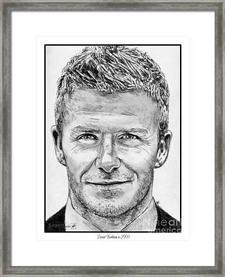 David Beckham In 2009 Framed Print by J McCombie