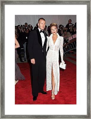 David Beckham, Victoria Beckham Both Framed Print by Everett
