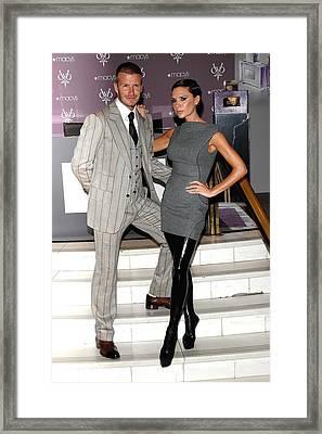 David Beckham, Victoria Beckham Framed Print by Everett