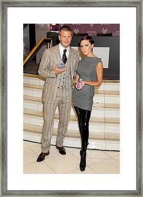 David Beckham Wearing A Tom Ford Suit Framed Print