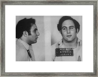 David Berkowitz B. 1953 Killed Six Framed Print