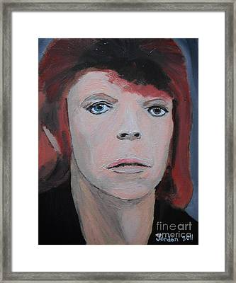 David Bowie The Early Years Framed Print by Jeannie Atwater Jordan Allen