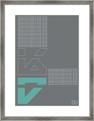 David Carson Poster Framed Print by Naxart Studio