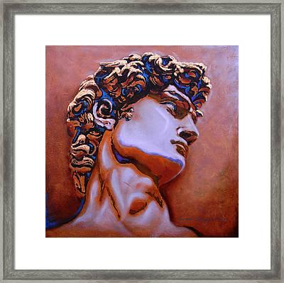 David  Framed Print by J- J- Espinoza