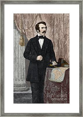 David Livingstone, Scottish Missionary Framed Print by New York Public Library
