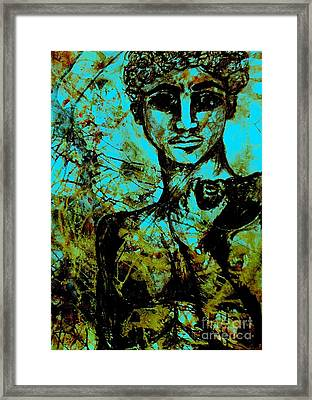 Framed Print featuring the painting David Ll by Amy Sorrell