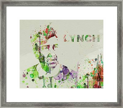 David Lynch Framed Print by Naxart Studio