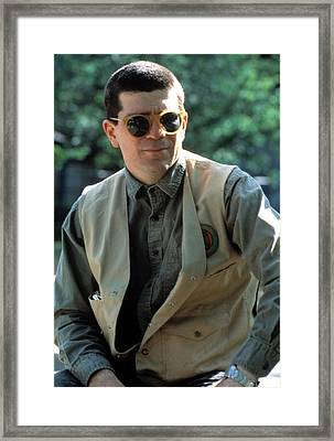 David Mamet During The Making Of House Framed Print by Everett