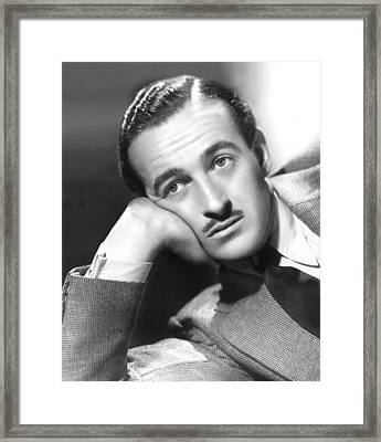 David Niven, 1938 Framed Print by Everett