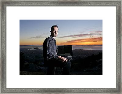 David P. Anderson, Us Computer Scientist Framed Print by Volker Steger