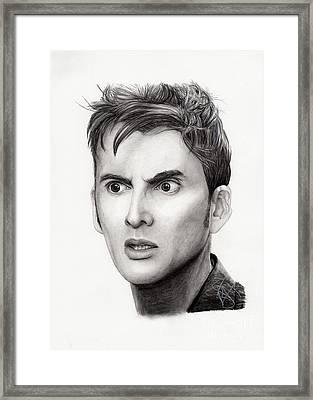 David Tennant Framed Print by Rosalinda Markle