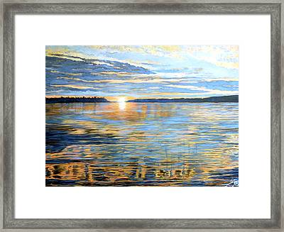 Framed Print featuring the painting Davidson Quebec by Tom Roderick