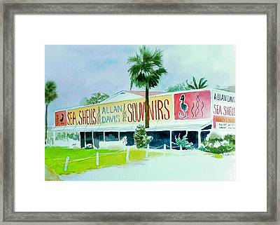 Framed Print featuring the painting Davis Shell Shop by Richard Willows