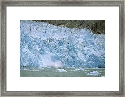 Dawes Glacier Calving, Endicott Arm Framed Print