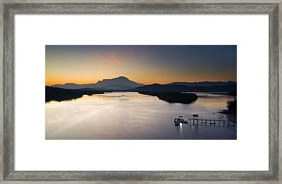 Dawn At Mengkabong River Framed Print