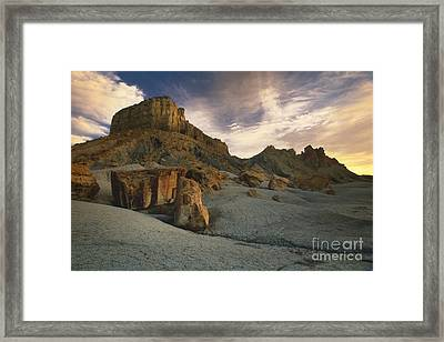 Dawn At Paria Canyon Framed Print by Sandra Bronstein