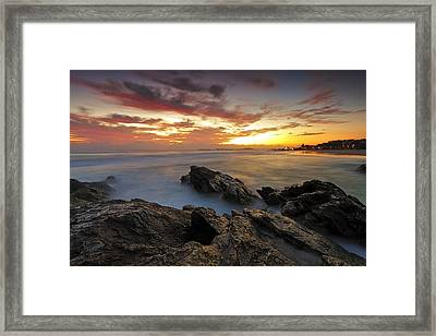 Dawn At The Rocks Framed Print