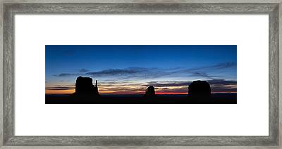 Dawn Breaking Over The Mittens Framed Print by Andrew Soundarajan
