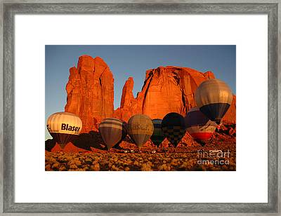 Framed Print featuring the photograph Dawn Flight In Monument Valley by Vivian Christopher