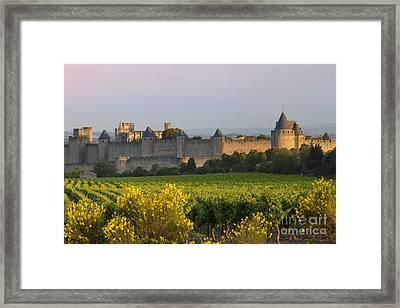 Dawn In Carcassonne Framed Print by Brian Jannsen
