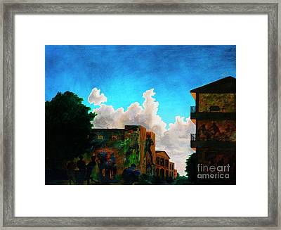 Dawn In The City Framed Print