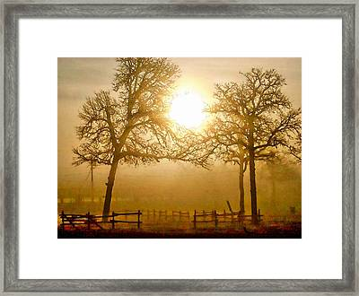 Dawn In The Country Framed Print