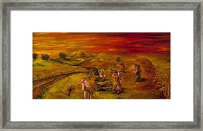 Dawn In The Land That I Love Framed Print by Itzhak Richter