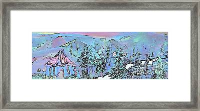 Dawn In The Sapphire Mountains Framed Print by Deborah Montana