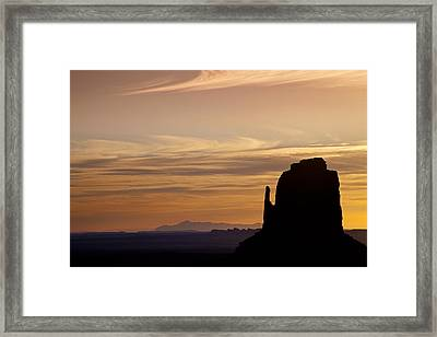 Dawn In The West Framed Print