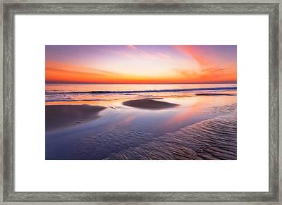 Dawn On Plum Island Framed Print by Lisa Pelonzi