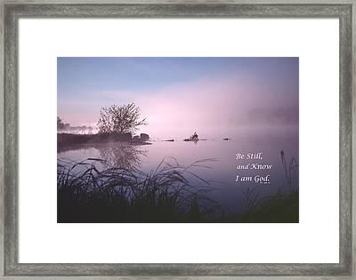Dawn On The Chippewa River Framed Print