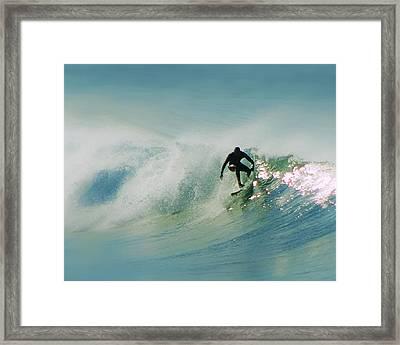 Dawn Surfer Framed Print by David Rearwin