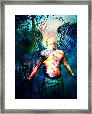 Framed Print featuring the digital art Dawning Angel by Nada Meeks