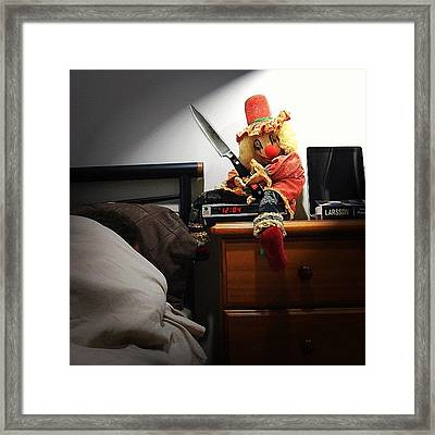 Day 4 #marchphotoaday #bedside I Tipped Framed Print