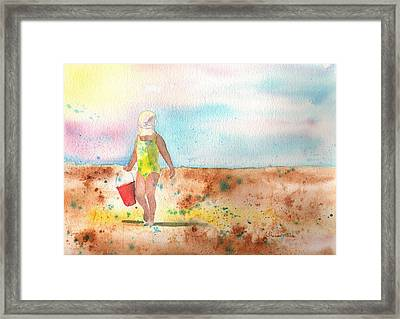 Day At The Beach Framed Print by Sharon Mick