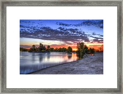 Framed Print featuring the photograph Day At The Lake by Marta Cavazos-Hernandez
