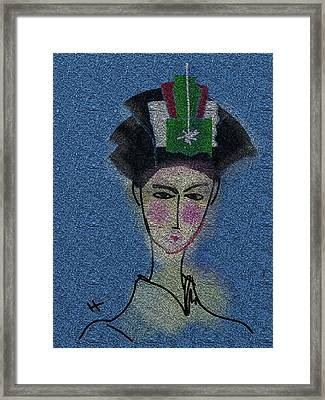 Day Dream Of A Geisha Framed Print by Hayrettin Karaerkek
