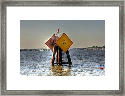 Day Marker Framed Print by Barry R Jones Jr