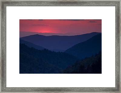 Day Over In The Smokies Framed Print