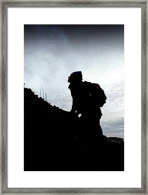 Day Trippin' Hike Framed Print by Mark Bell