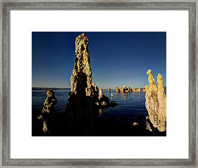 Daybreak On Mono Lake Framed Print by Joe Schofield