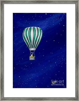 Daydreaming In A Hot Air Balloon Framed Print