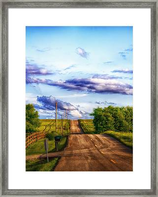 Daylight Fades In New Melle Framed Print by Bill Tiepelman