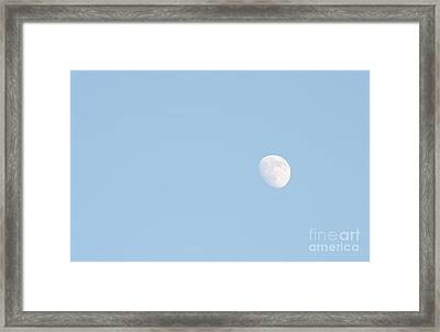Framed Print featuring the photograph Daylight Moon by Michael Waters