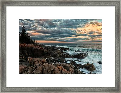 Day's End At Otter Point Framed Print by Sara Hudock