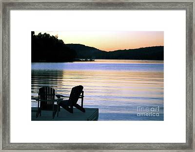 Day's End At The Lake Framed Print