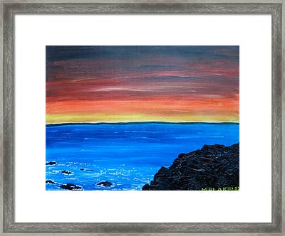 Framed Print featuring the painting Days End by Martin Blakeley