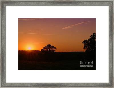 Framed Print featuring the photograph Day's Final Rays by Julie Clements