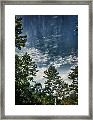 Framed Print featuring the photograph Daytime Moon by Edward Myers